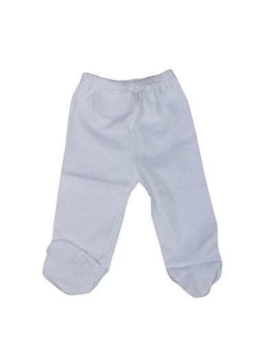 Sema Bebe Penye Tek Alt Patikli Bebek Giyim Beyaz